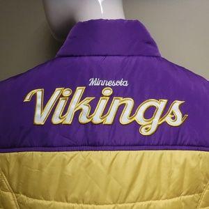 Women's NFL Vikings Vest NWT Size Large